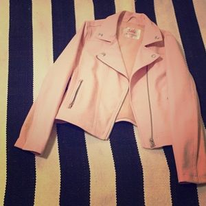 Justice pink leather jacket